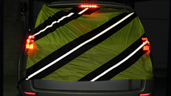 Knight Sight Saftety Banner attached to SUV